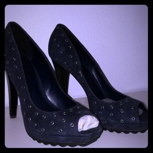 NEW!!! Calvin Klein Nucbuck peep toe NEW!!!